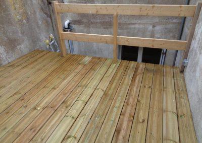 Terrasse bois suspendue (Pornichet)